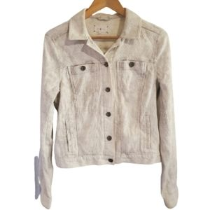 4/25Lou&Grey Textured Jean Jacket Style Coat Small